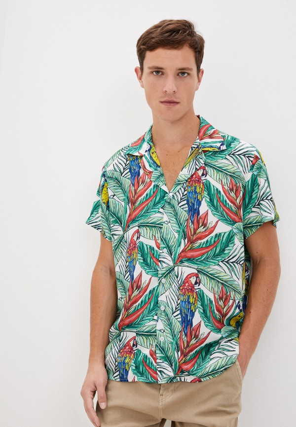 мужская рубашка с коротким рукавом aarhon, зеленая