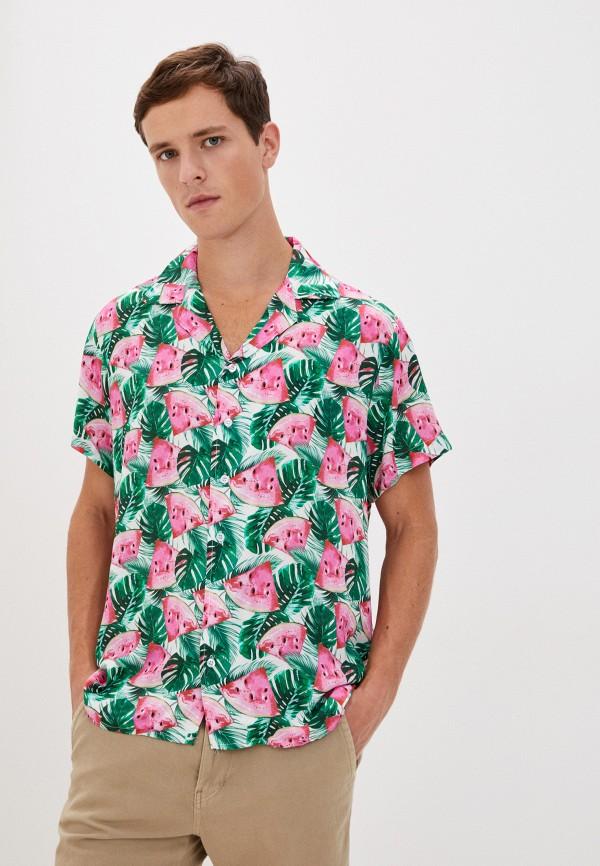 мужская рубашка с коротким рукавом aarhon, разноцветная