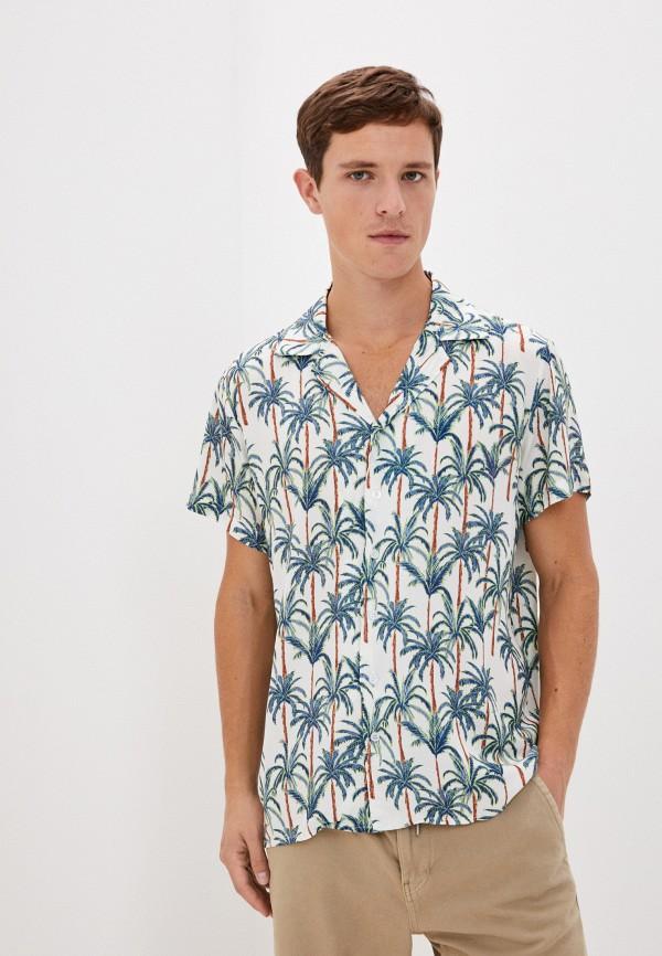 мужская рубашка с коротким рукавом aarhon, белая