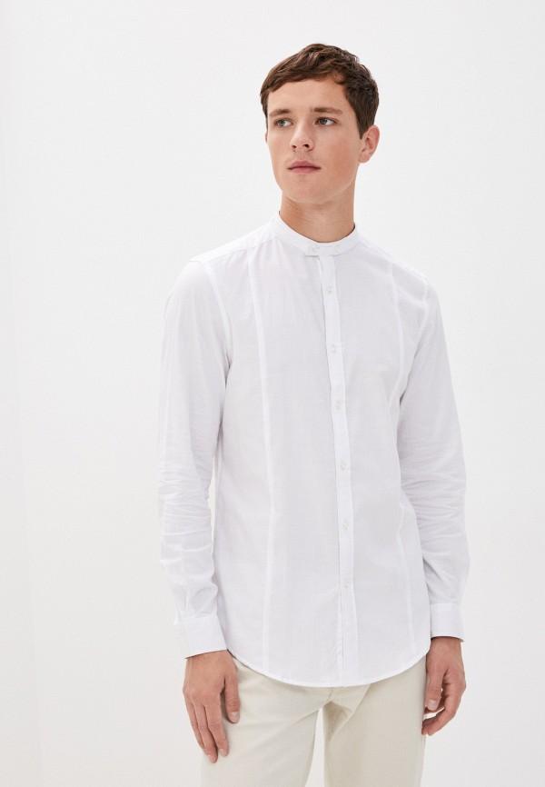 мужская рубашка с длинным рукавом aarhon, белая