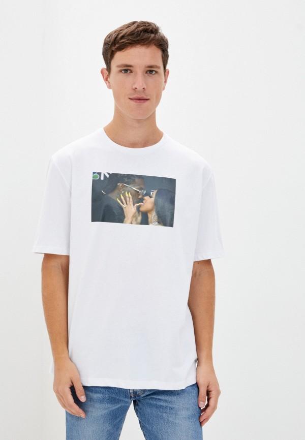мужская футболка с коротким рукавом aarhon, белая
