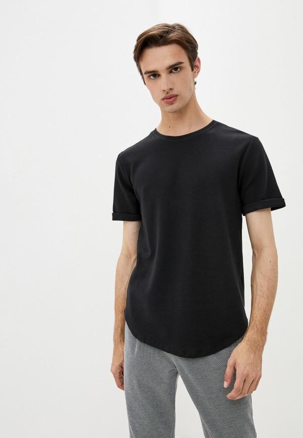 мужская футболка с коротким рукавом aarhon, черная