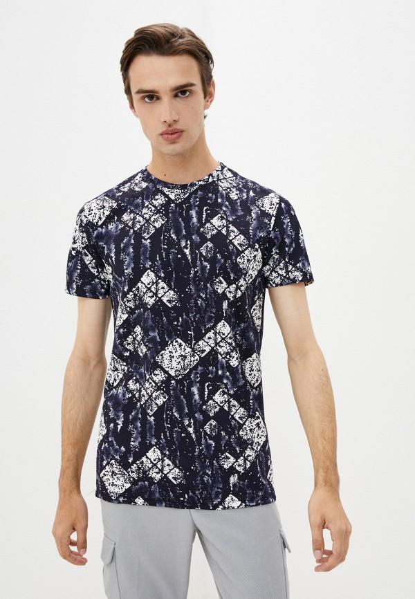 мужская футболка с коротким рукавом aarhon, синяя