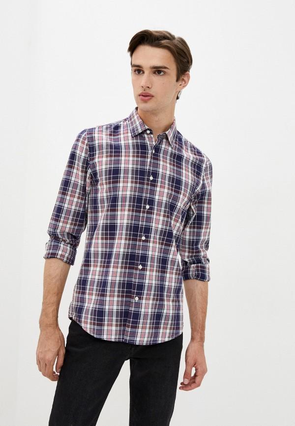 мужская рубашка с длинным рукавом aarhon, синяя