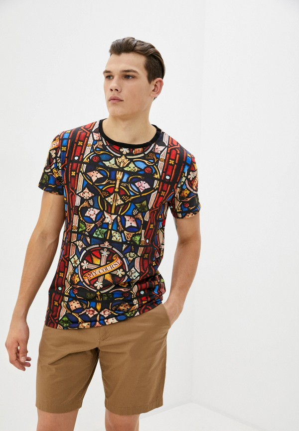 мужская футболка с коротким рукавом aarhon, разноцветная