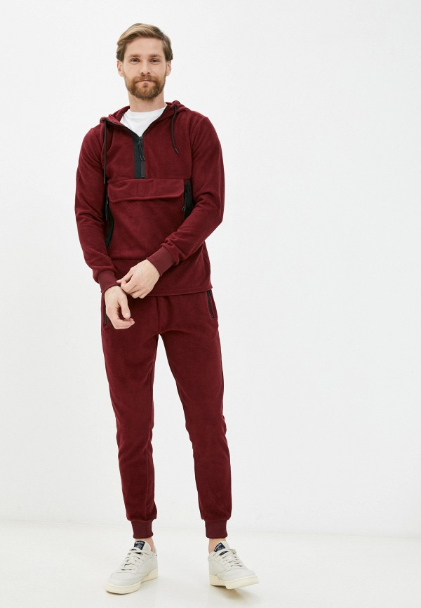 мужской спортивный костюм aarhon, бордовый