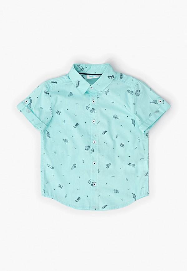 рубашка acoola для мальчика, бирюзовая