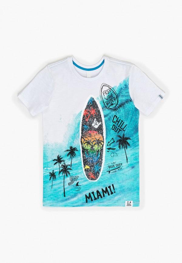 футболка с коротким рукавом acoola для мальчика, белая