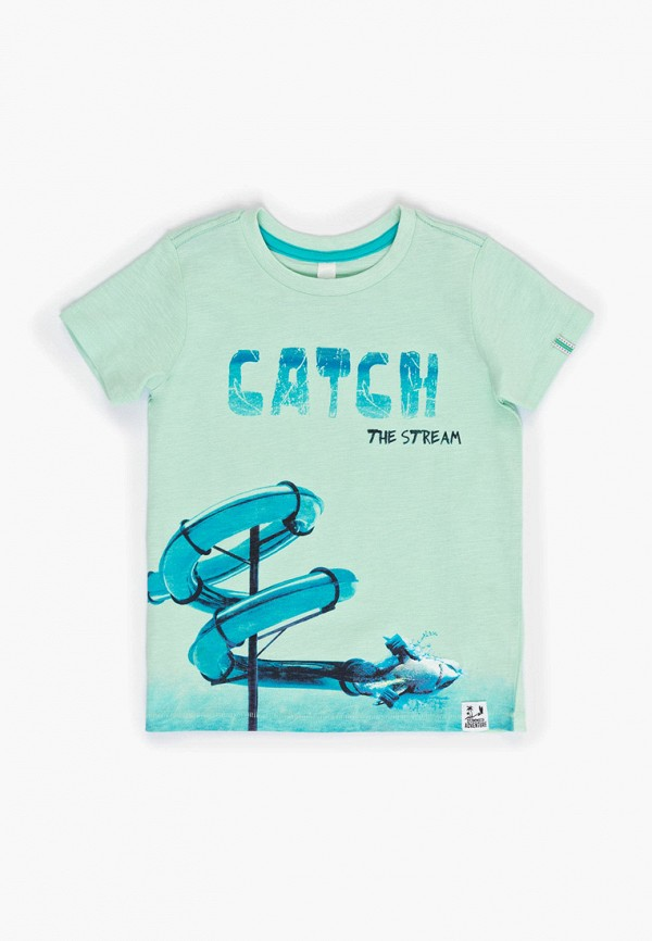 футболка с коротким рукавом acoola для мальчика, бирюзовая