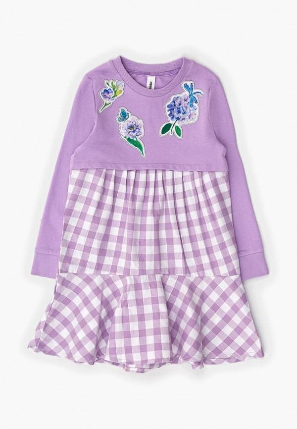 повседневные платье acoola для девочки, фиолетовое