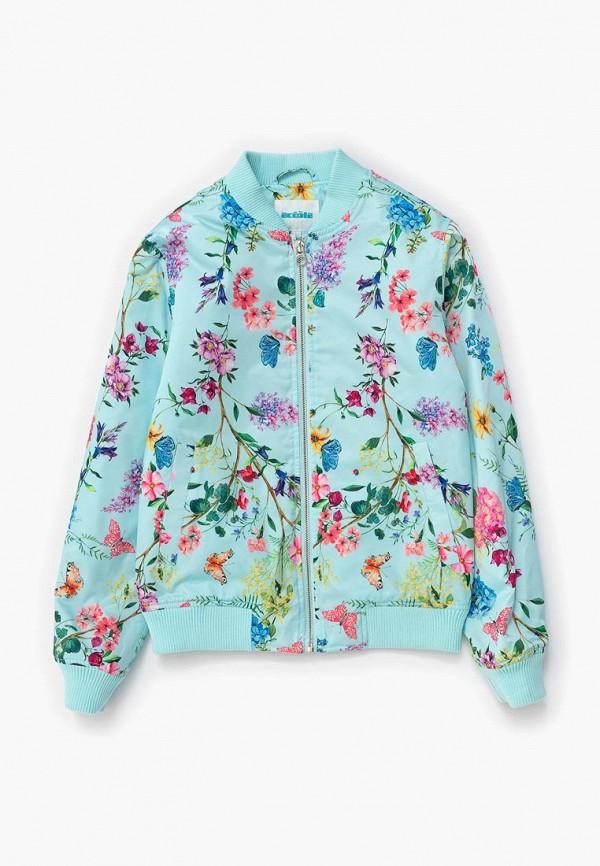 куртка acoola для девочки, голубая
