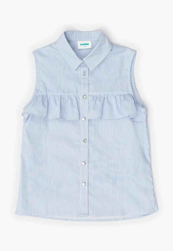 блузка acoola для девочки, голубая