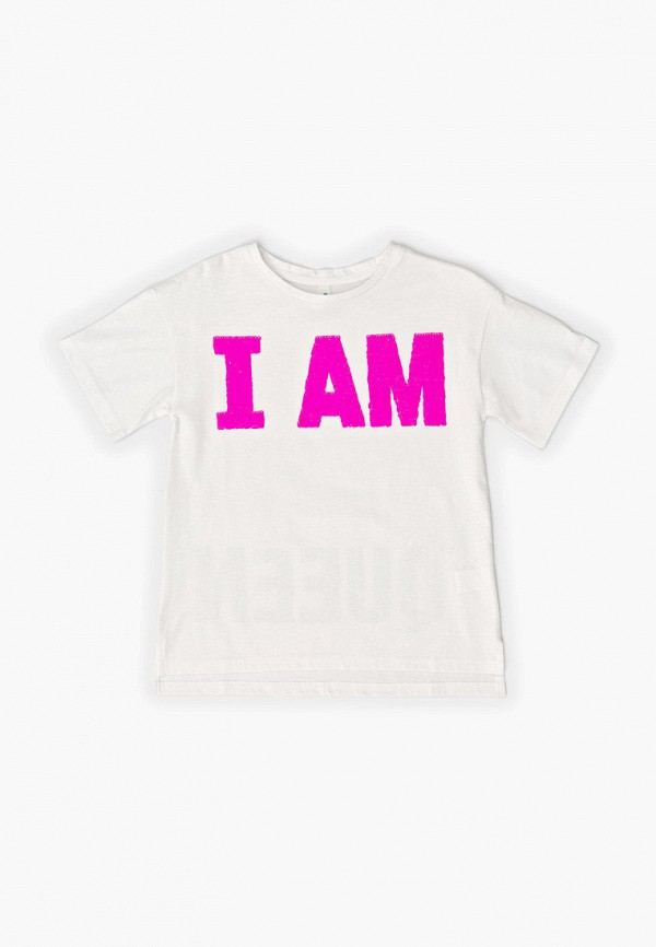 футболка с коротким рукавом acoola для девочки, белая