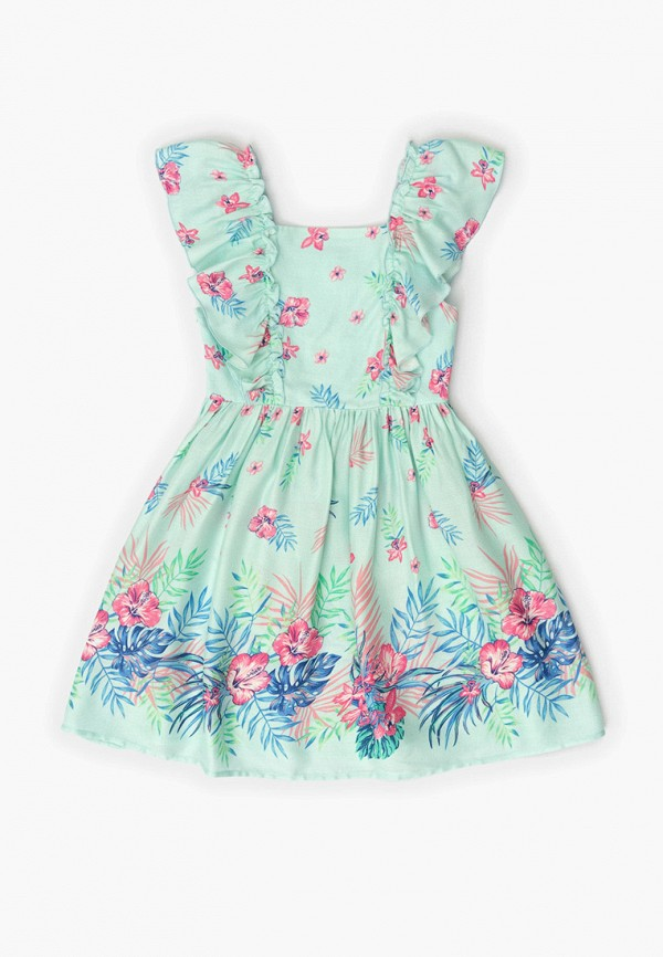 повседневные платье acoola для девочки, бирюзовое