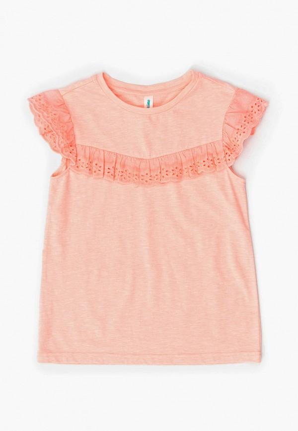футболка с коротким рукавом acoola для девочки, розовая