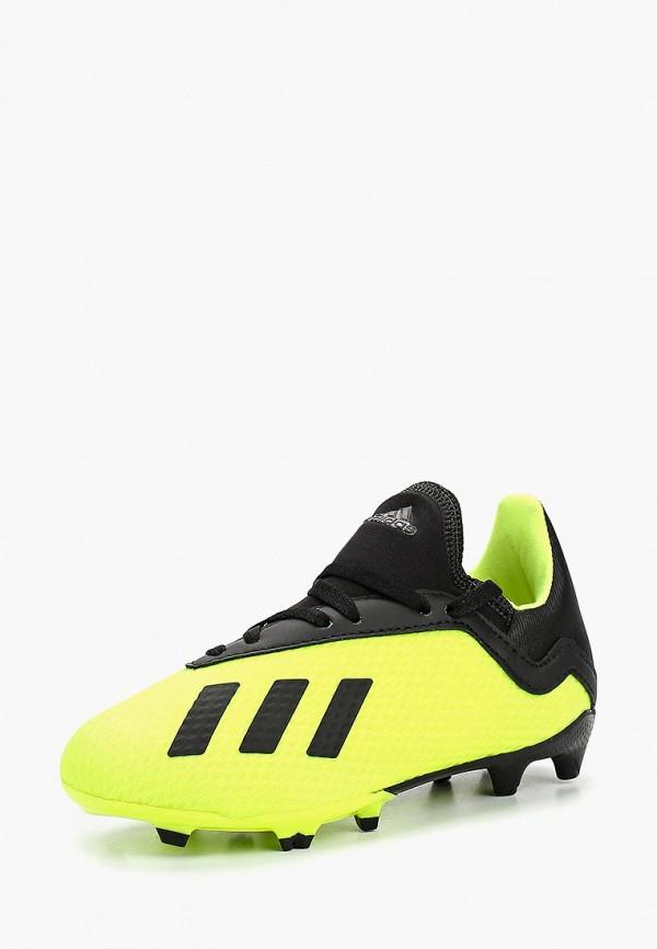 бутсы adidas для мальчика, желтые