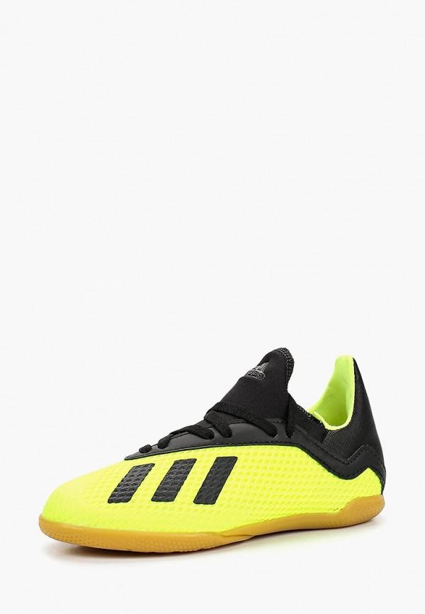 Купить Бутсы зальные adidas, adidas AD002ABCDAX5, желтый, Осень-зима 2018/2019