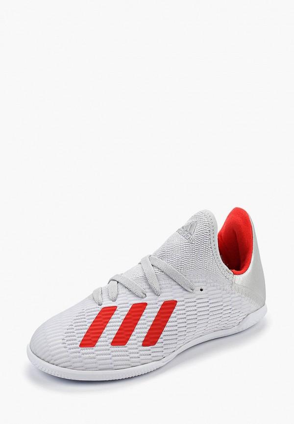 Фото 2 - Бутсы зальные adidas серого цвета