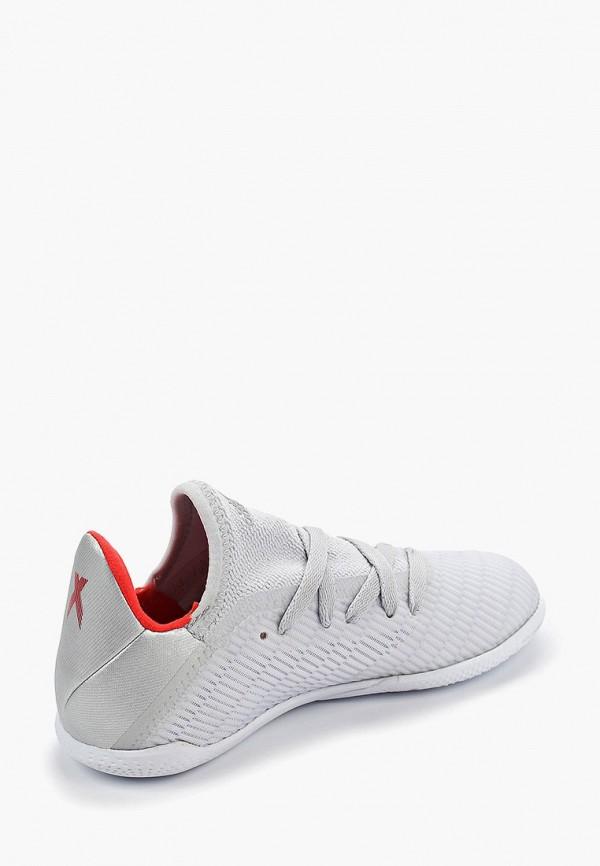 Фото 3 - Бутсы зальные adidas серого цвета