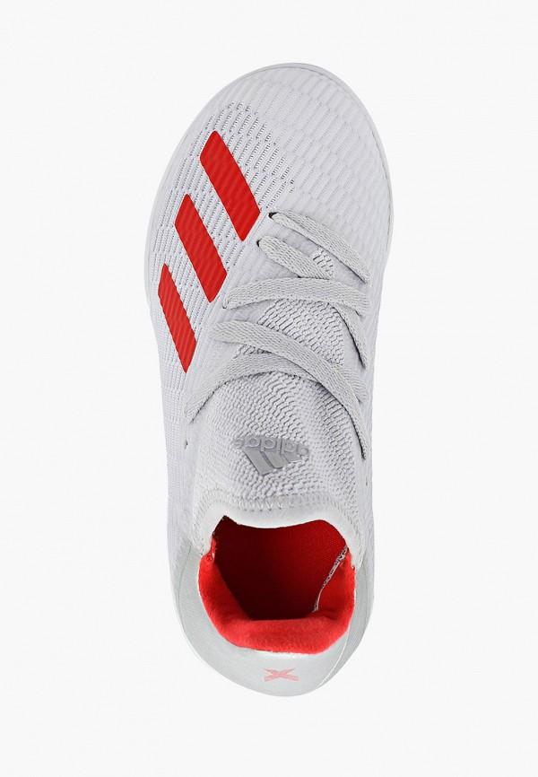 Фото 4 - Бутсы зальные adidas серого цвета