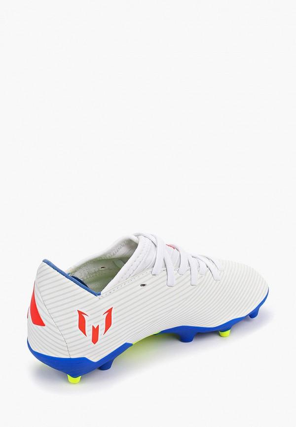 Фото 3 - Бутсы adidas белого цвета