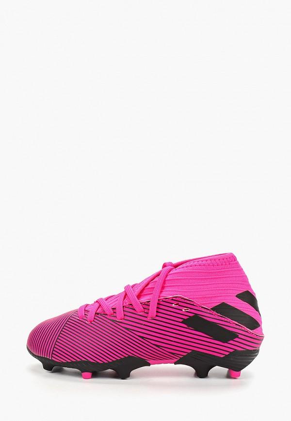 бутсы adidas для мальчика, розовые