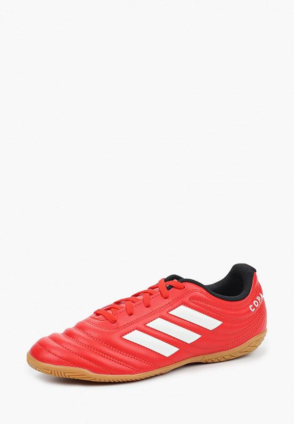 Фото 2 - Бутсы зальные adidas красного цвета