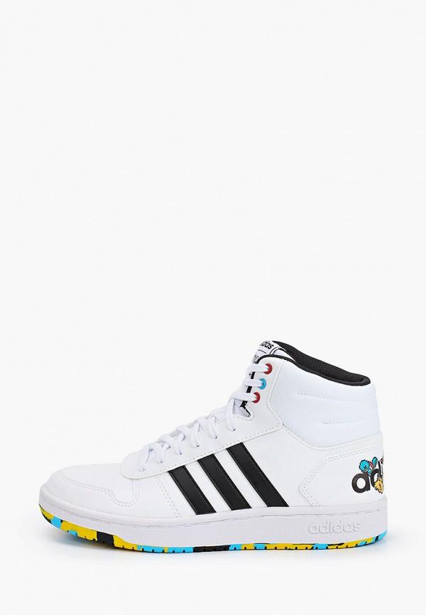 кеды adidas для мальчика, белые