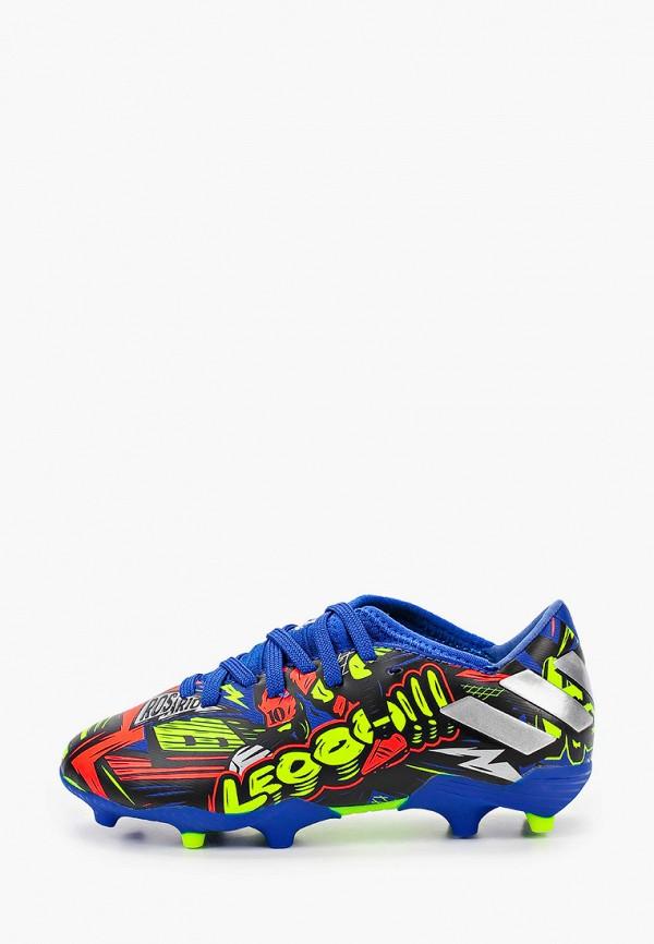 бутсы adidas для мальчика, разноцветные