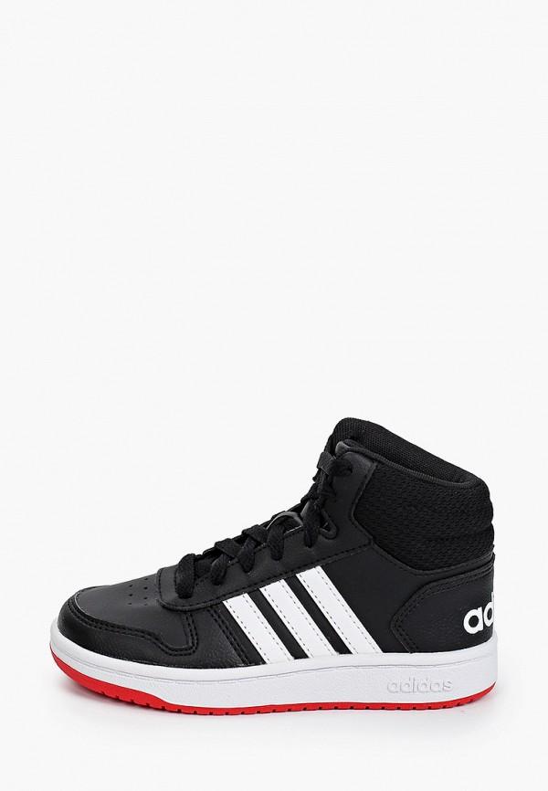 кеды adidas для мальчика, черные