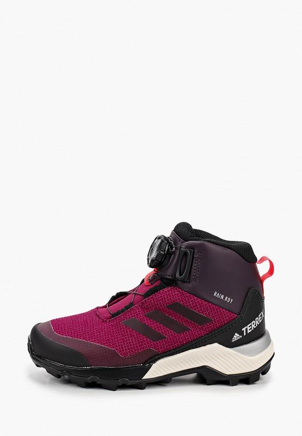 ботинки adidas для девочки, бордовые