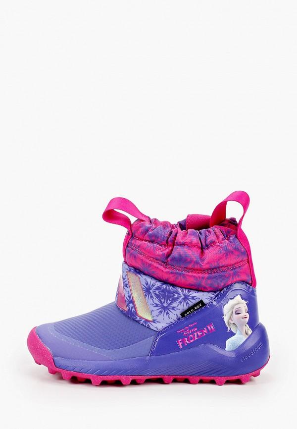 дутики adidas для девочки, фиолетовые