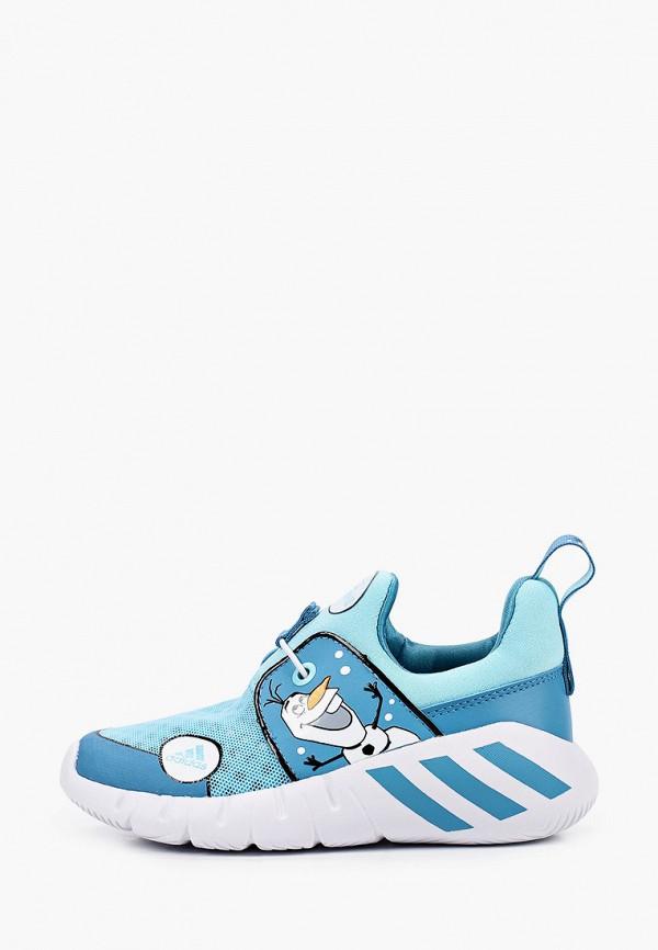 кроссовки adidas для девочки, голубые