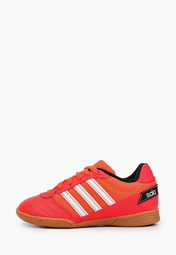 бутсы adidas малыши, красные