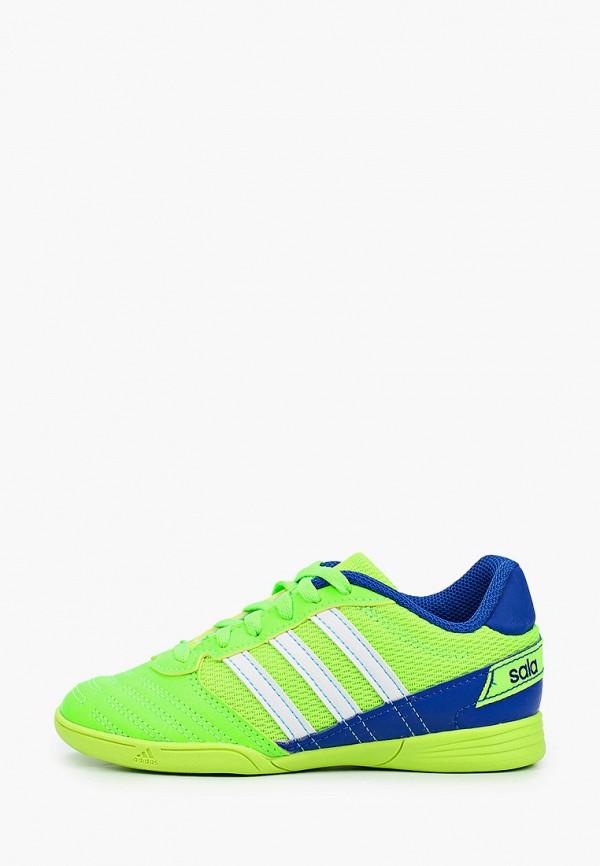 бутсы adidas малыши, зеленые