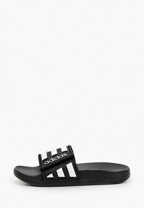сланцы adidas малыши, черные