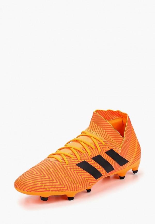 Купить Бутсы adidas, adidas AD002AMCDIZ4, оранжевый, Осень-зима 2018/2019