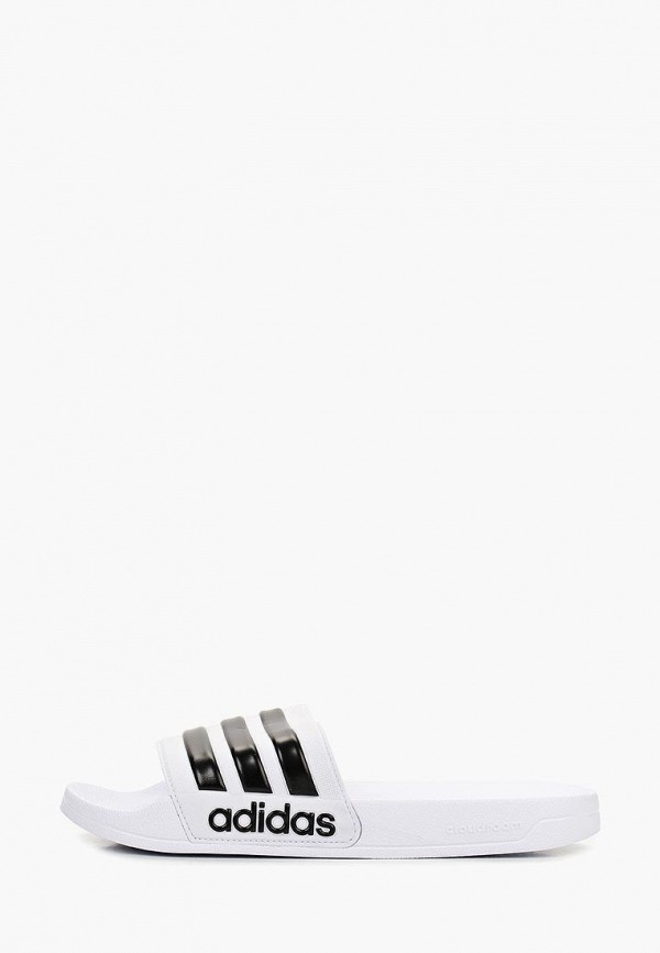 мужские сланцы adidas, белые