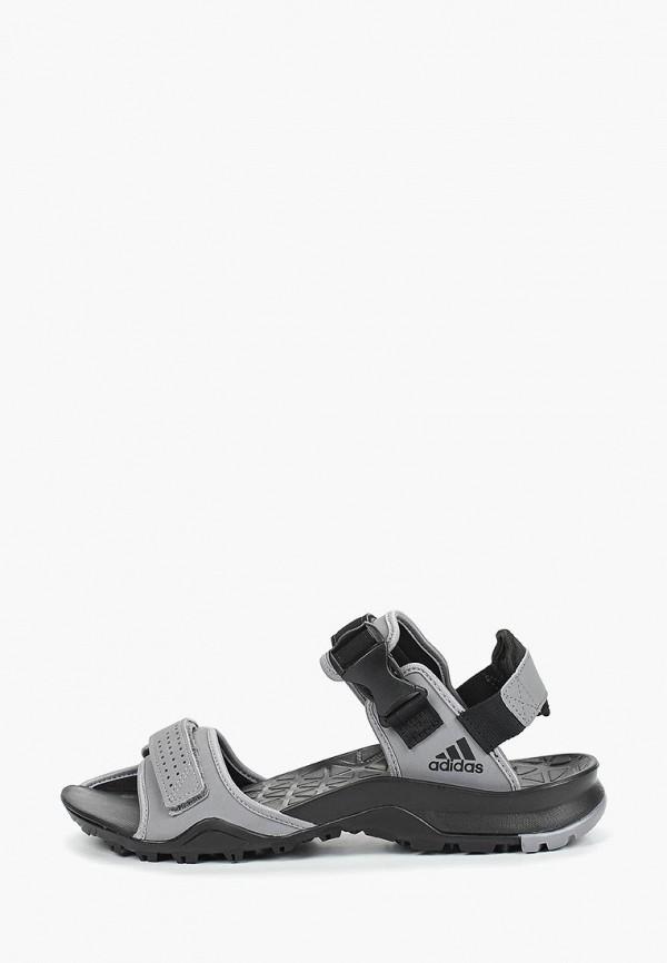 Мужские серебряные сандалии