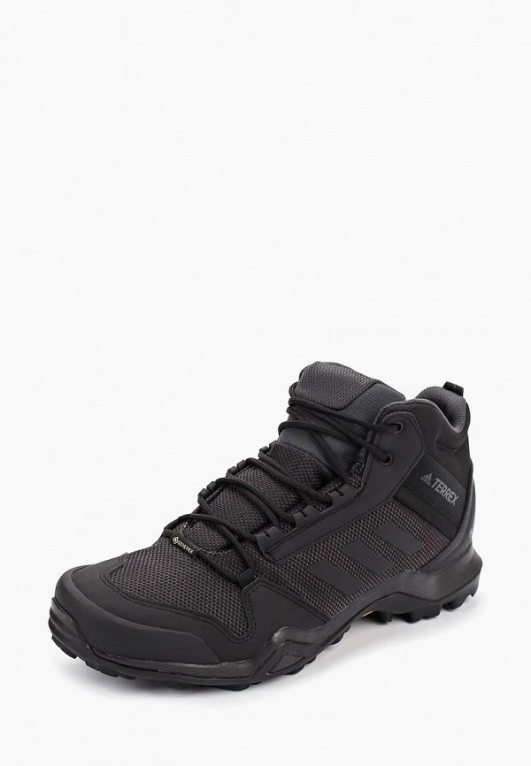 Фото 2 - Ботинки трекинговые adidas черного цвета