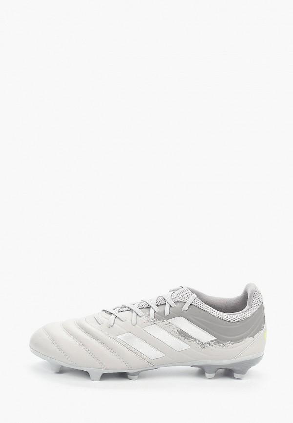 мужские бутсы adidas, серые