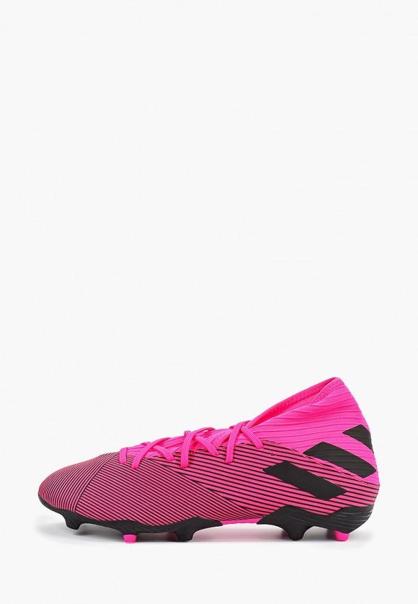 мужские бутсы adidas, розовые