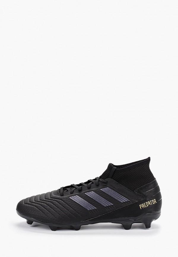 Фото - Бутсы adidas черного цвета