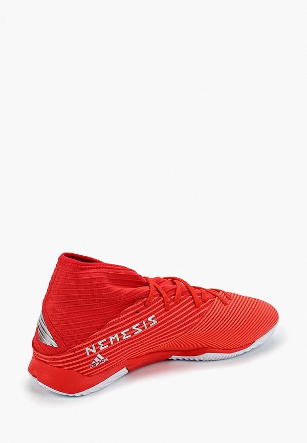 Фото 3 - Бутсы зальные adidas красного цвета