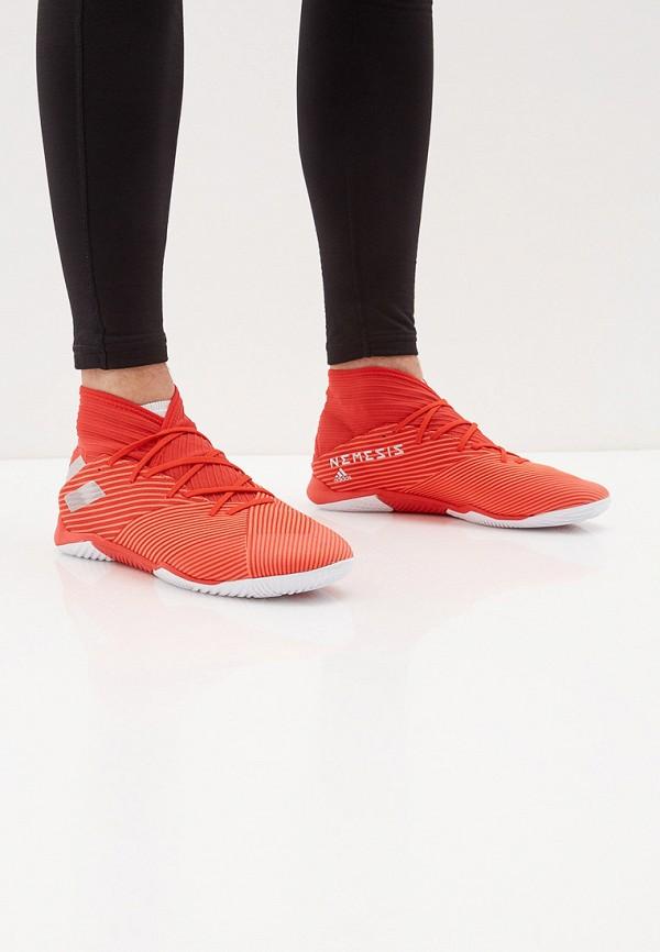 Фото 6 - Бутсы зальные adidas красного цвета