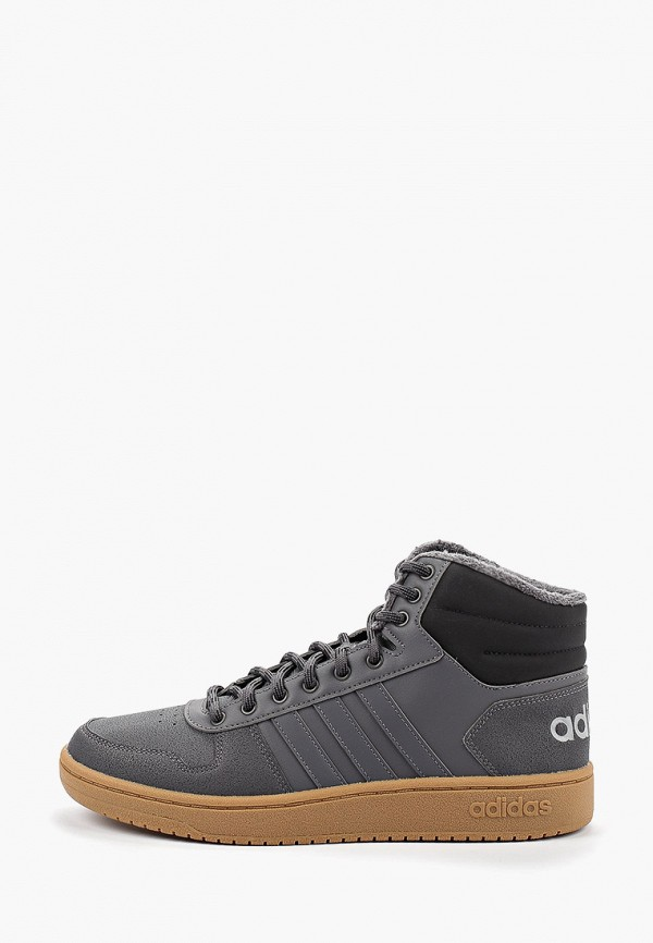 Купить Кеды adidas серого цвета