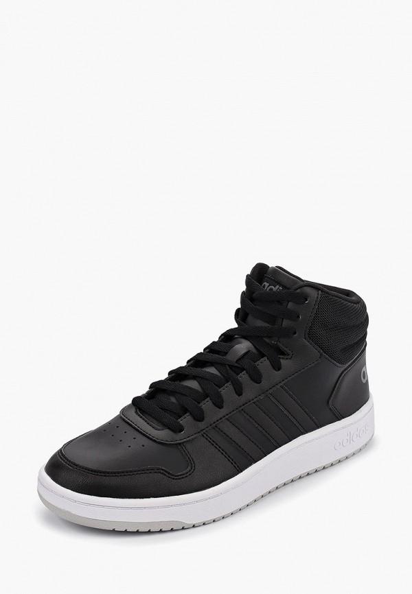 Фото 2 - мужские кеды adidas черного цвета
