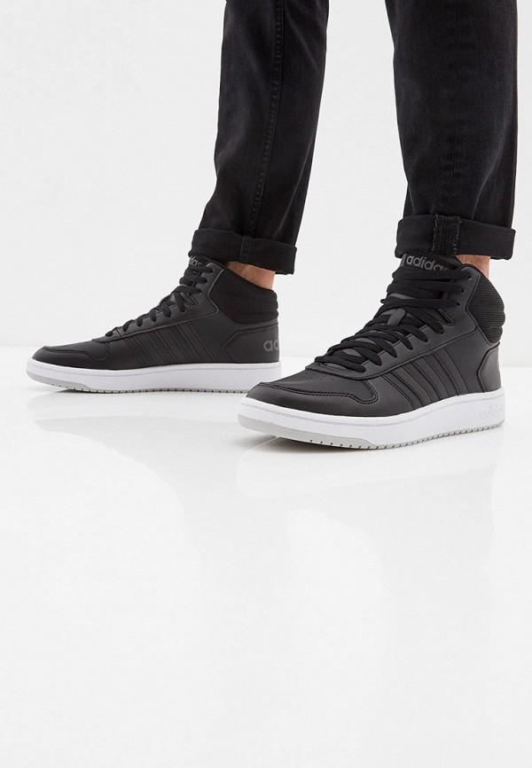 Фото 6 - мужские кеды adidas черного цвета