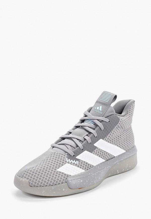 Фото 2 - мужские кроссовки adidas серого цвета