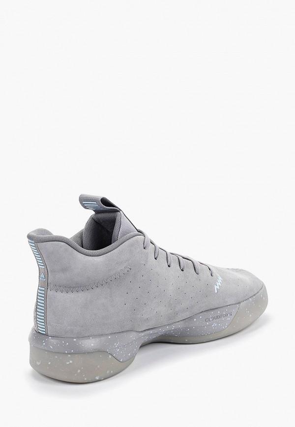 Фото 3 - мужские кроссовки adidas серого цвета